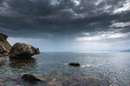 Seascape crimean peninsula sea view from the coast of the black sea Stock Photo