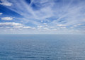 Seascape with deap blue ocean waters Royalty Free Stock Photo