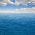 Seascape with deap ocean waters beautiful deep blue and cloudscape Stock Photography