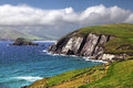 Seascape of Dingle Coastline, County Kerry Royalty Free Stock Photo