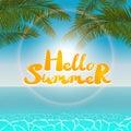 Seascape hello summer
