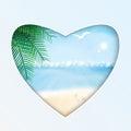 Seascape  illustration Royalty Free Stock Photo