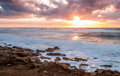 Seascape, Mediterranean Sea, Israel Royalty Free Stock Photo
