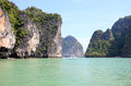 Seascape phangnga bay thailand south of Stock Image