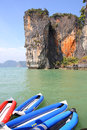 Seascape phangnga bay thailand south of Royalty Free Stock Photo