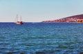 Seascape with a ship