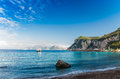 Seascape shot on the island of Capri. Royalty Free Stock Image
