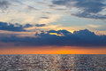 Seascape of similand during sunset lowkey background the Royalty Free Stock Photos