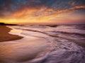 Seascape during sundown beautiful natural Stock Photo