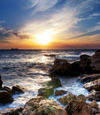 Seascape sunset Royalty Free Stock Photography