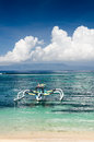 Seascape tropical beach bali island indonesia Stock Photography