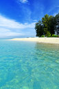 Seascape tropical beach blue sky and clear water Royalty Free Stock Photo