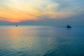 Seascape in twilight Royalty Free Stock Photo