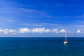 Seascape with yacht Royalty Free Stock Images