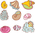 Seashell Set: Pacific Stock Photography