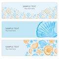 Seashell summer banner Royalty Free Stock Photo