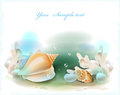 Seashells and corals Stock Photos