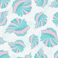 Seashells seamless pattern Stock Photos