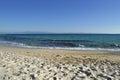 Seashore in October. Sand beach. Kassandra Halkidiki Greece Royalty Free Stock Photo