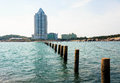 Seaside building at china qingdao Royalty Free Stock Photos