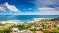Seaside of cape town beautiful coastal city in the africa panoramic landscape modern buildings travel and tourism concept Stock Photo