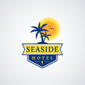 Seaside hotel logo.