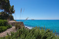 Seaside landscape in canyamel mallorca on a sunny summer day balearic islands spain Royalty Free Stock Photography