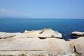 Seaside landscape in yehliu geopark taiwan Royalty Free Stock Photo