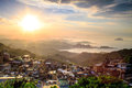 The seaside mountain town scenery in jiufen taiwan new taipei city june Royalty Free Stock Images