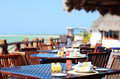 Seaside restaurant Royalty Free Stock Photography