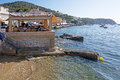 Seaside restaurants Port Andratx Mallorca Royalty Free Stock Photo