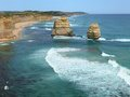 Seaside rocky formation great ocean road australia victoria national park Stock Image