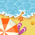 Seaside summer vacation - send and wave