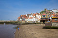 Seaside town whitby popular british holiday destination in yorkshire england Stock Photo