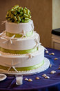 Seaside wedding cake Stock Images