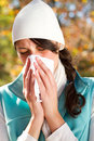 Season change allergy Stock Image