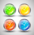 Season Clocks Royalty Free Stock Photos