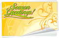 Season Greetings floral card Royalty Free Stock Photos