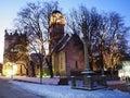 Báječný studený zima v a vysoký tatry sneh pokrytý stromy farbistý