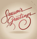 'Season's Greetings' hand lettering (vector) Royalty Free Stock Photos