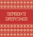 Season's greetings pattern Royalty Free Stock Photo