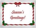 Season's Greetings and Ribbon Royalty Free Stock Photo