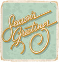 SEASONS GREETINGS Vintage Card...
