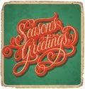 SEASONS GREETINGS Vintage Card...