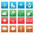Season weather icon set the Royalty Free Stock Image
