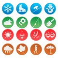 Season weather icon set the Royalty Free Stock Photos