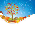 Seasonal background Stock Photo