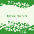 Seasonal Background with floral Borders. Royalty Free Stock Photography