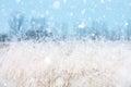 Seasonal backgrounds with snowfall