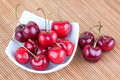 Seasonal fresh cherries Royalty Free Stock Photography